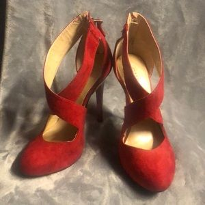 Guess Red Suede Pumps